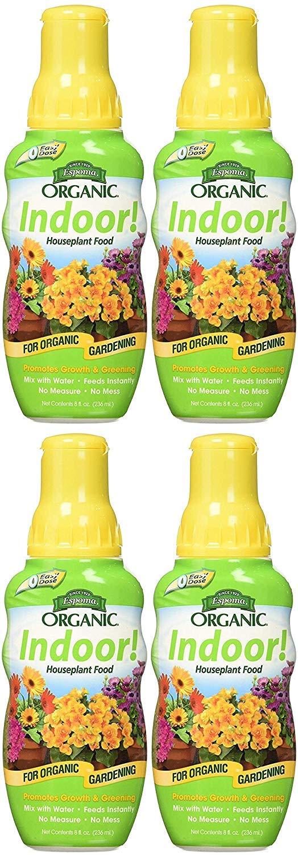 Espoma Company INPF8 Organic Indoor Plant Food, 8 oz Pack of 4