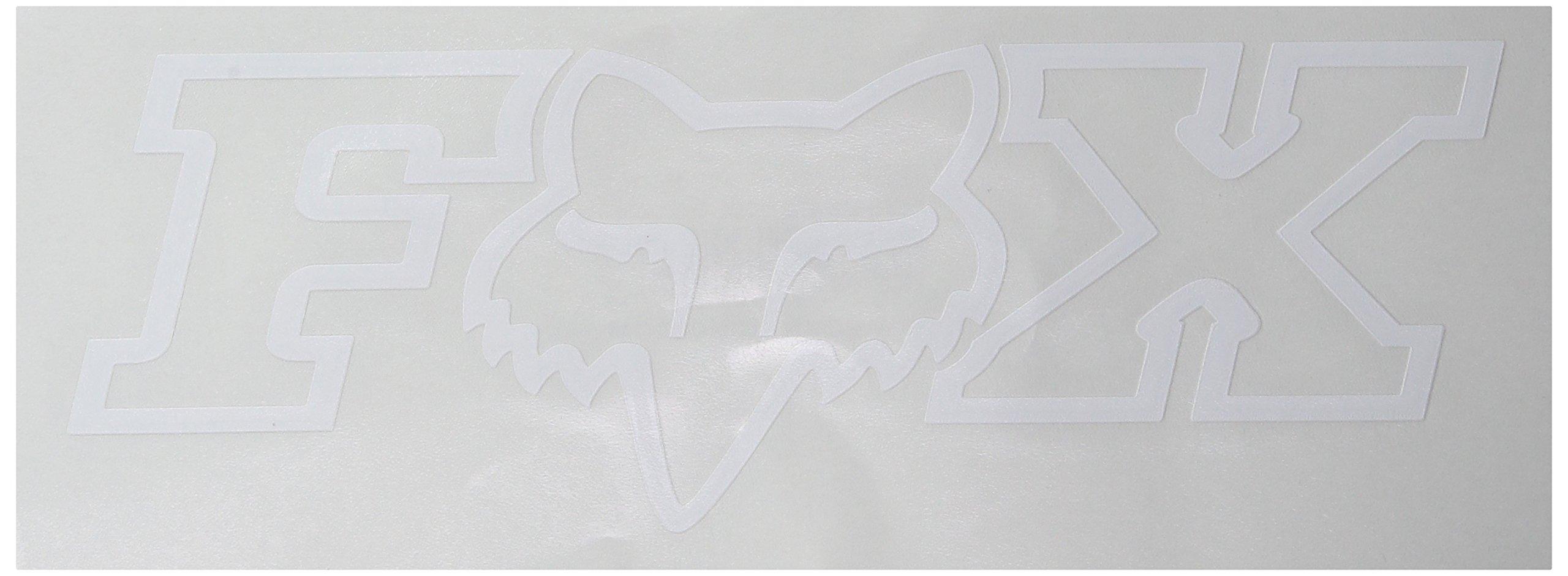 Fox Men's Corporate TDC-7'' Sticker, White, One Size