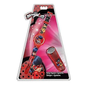 Set reloj digital y linterna led de Lady Bug 6/24: Amazon.es: Juguetes y juegos