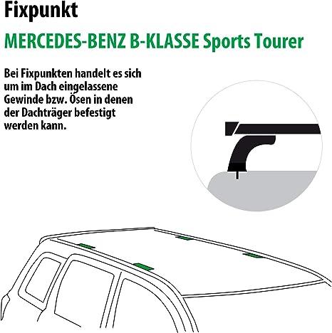 Rameder Komplettsatz Dachträger Wingbar Evo Für Mercedes Benz B Klasse Sports Tourer 114724 09769 1 Auto