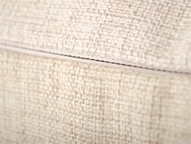 18x18 Elviros Coton Lin Blend G/éom/étrique D/écoratif Housse de Coussin 45x45 cm