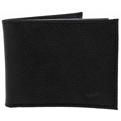 bd347ba116 Nike Mens Leather Billfold Bifold Wallet Black O/S: Amazon.co.uk: Shoes &  Bags