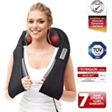 Back Massager Donnerberg® - Premium German Brand – Pain Relief for Neck and Back -Soothing Infrared Heat - deep kneading shiatsu Massage – 7 Years Warranty - Office, Home & Car use