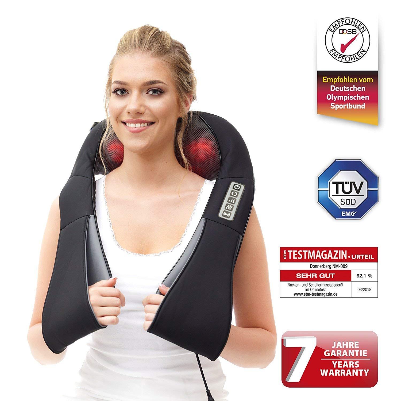 Donnerberg® Masajeador de cuello hombros espalda | Marca alemana ...