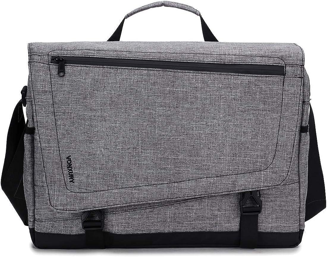 Messenger Bag for Men, Lightweight Water Resistant 15.6 In Laptop Bag School Office Shoulder Bag by Vonxury