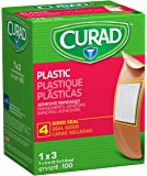Curad Plastic Adhesive Bandages, 1 X 3 Inch, 100 Count (Packaging May vary)