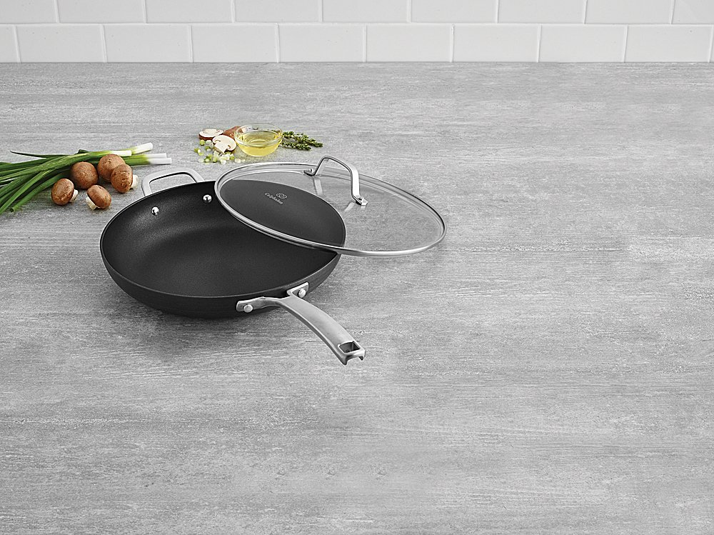 Calphalon 1932340 Classic Nonstick Omelet Fry Pan with Cover, 12 Inch, Grey by Calphalon (Image #2)