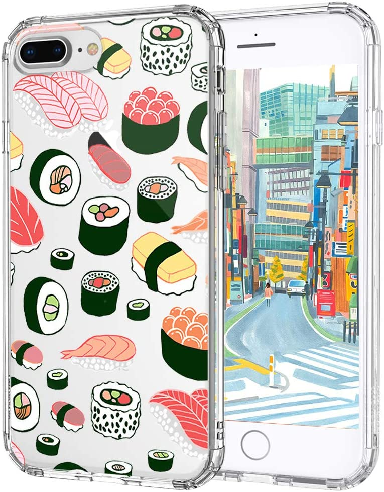 MOSNOVO Sushi Pattern Designed for iPhone 8 Plus Case/iPhone 7 Plus Case - Clear