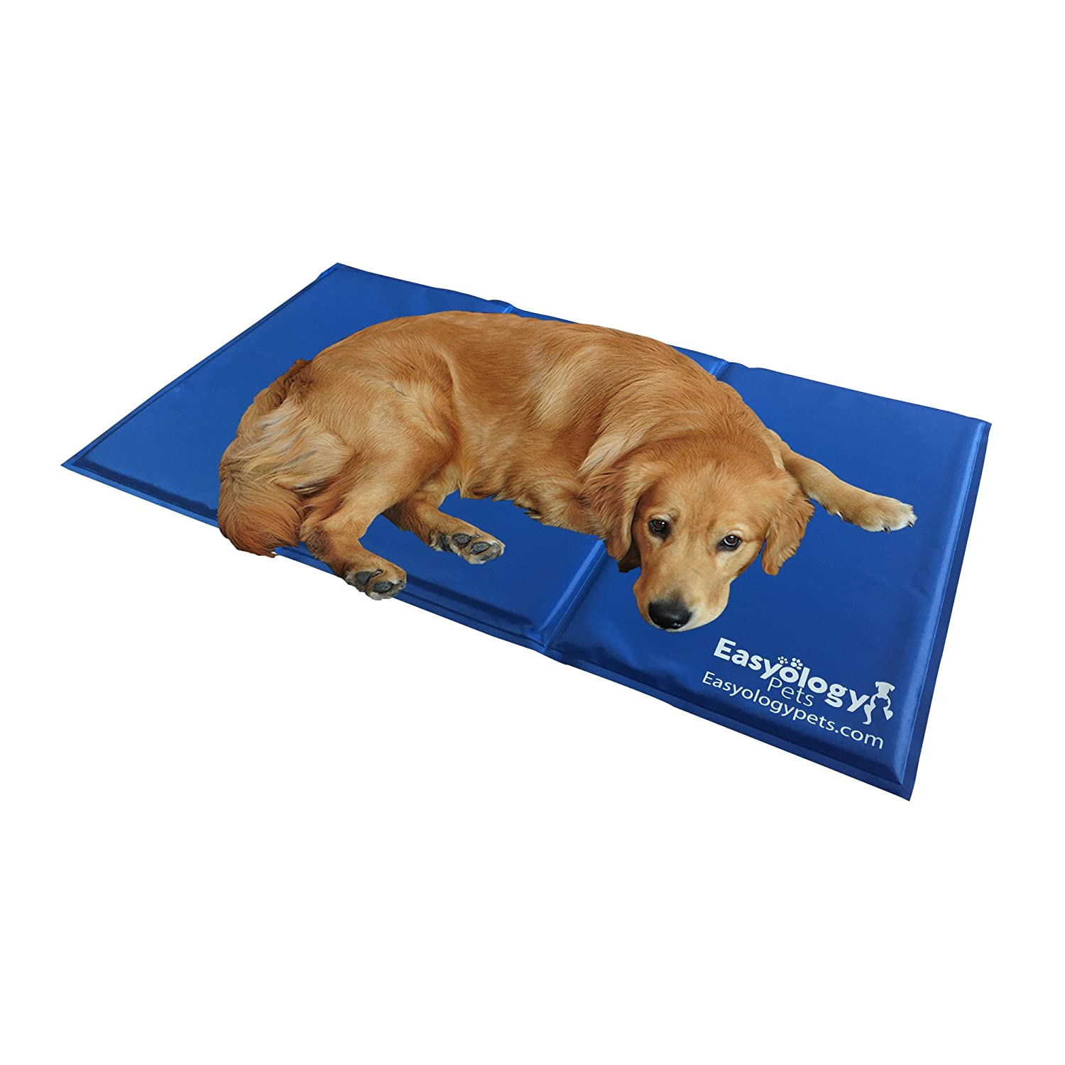 Jumbo Pet Cooling Mat - Cold Gel Pad For Cats and Dogs - Best For Keeping Large Pets Cool - Perfect Size For Couch - Fits The Easyology Premium Pet Warming and Cooling Bed