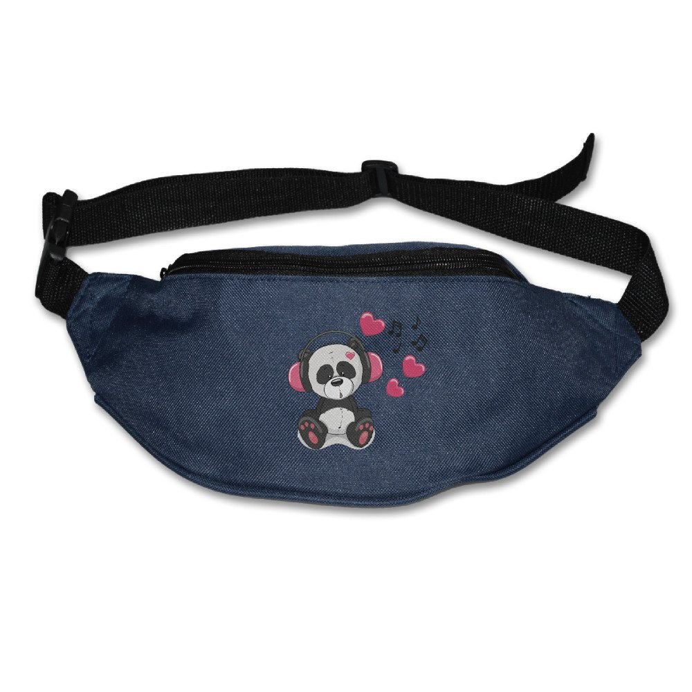 7S Plus Samsung S5 S6 Money IPhone 6 Music Panda Waist Bag Fanny Pack Hip Pack Bum Bag For Man Women Sports Travel Running Hiking 7 6S