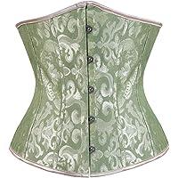 Kranchungel Women's Vintage Underbust Corset Bustier Waist Cincher Bodyshaper