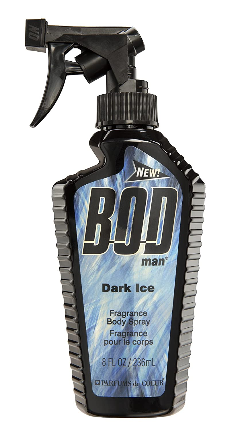 Parfums De Coeur Bod Man Dark Ice for Men Fragrance Body Spray, 8.0 Ounces BODI8M