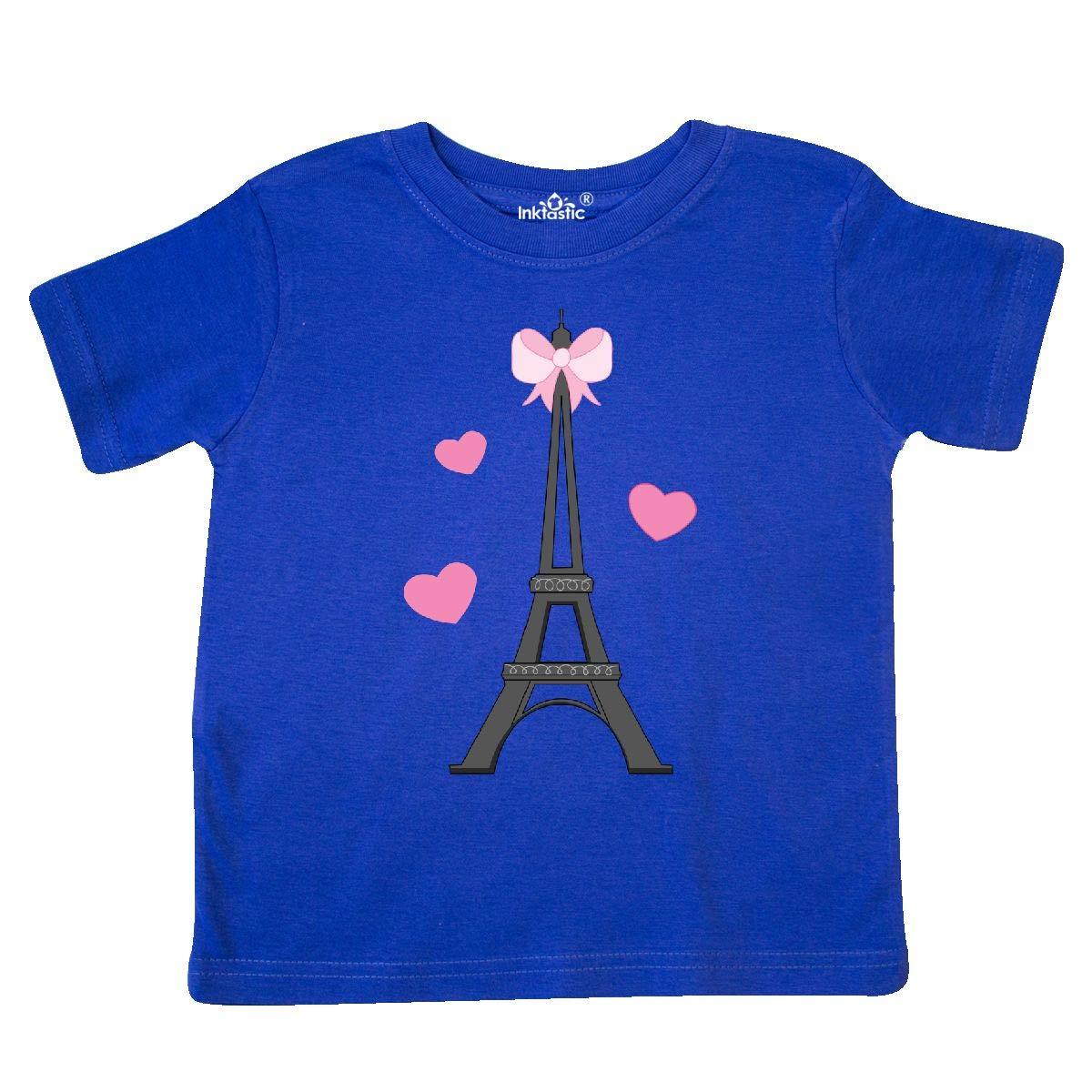 inktastic Paris Lover Eiffel Tower Toddler T-Shirt