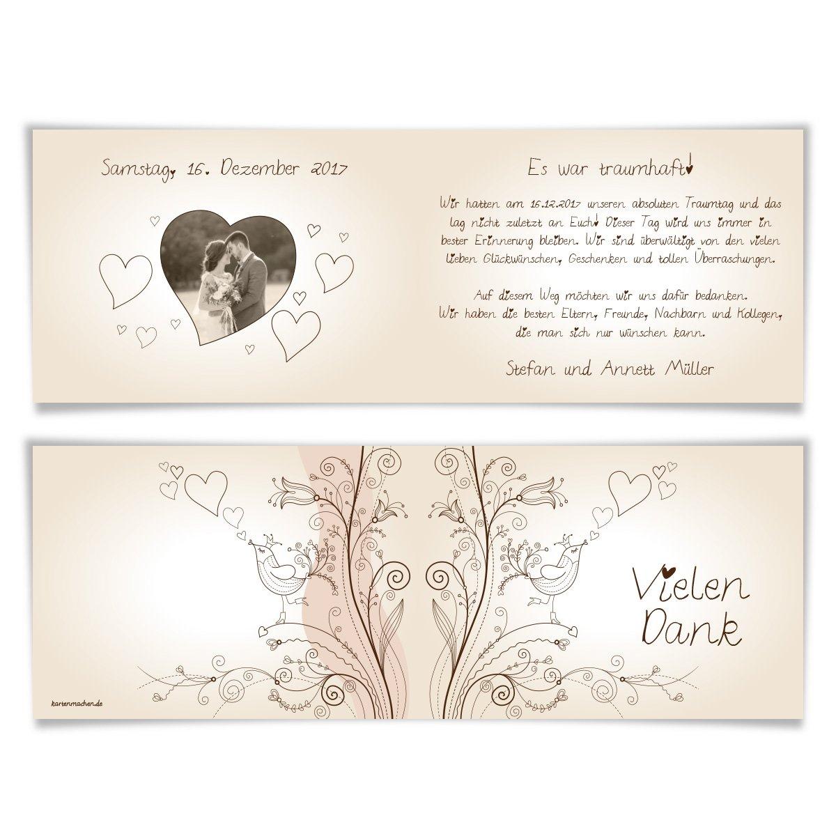 100 x Hochzeit Danksagungskarten Dankeskarten - Liebesbaum individuell gedruckt gedruckt gedruckt mit Foto B0758J14TT | Eine Große Vielfalt An Modelle 2019 Neue  | Qualitativ Hochwertiges Produkt  | Reparieren  fb6df8