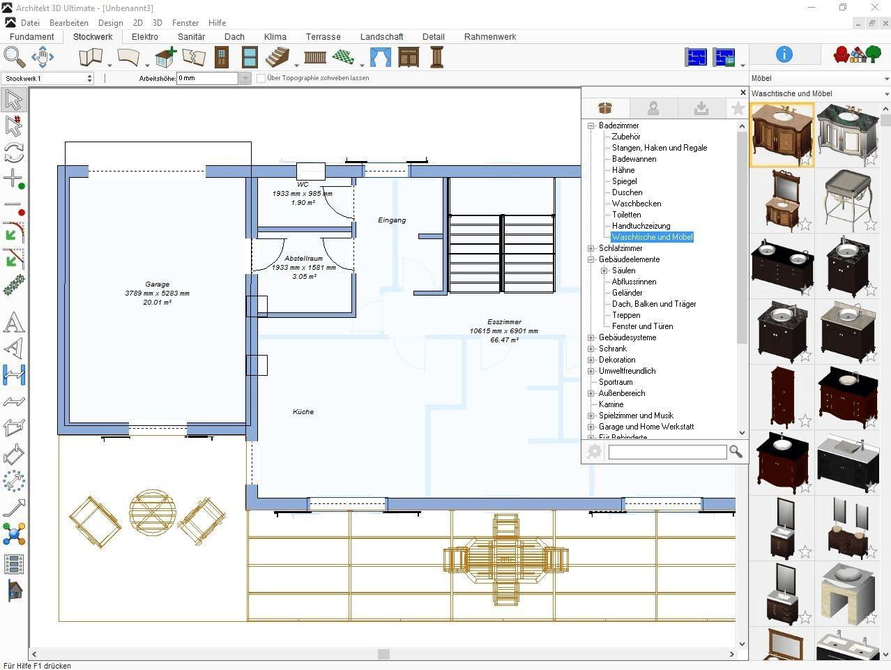 Architekt 3d X9 Ultimate Der Professionelle 3d Planer Fur Haus Wohnung Garten Und Inneneinrichtung Windows 10 8 7 Xp Vista 32 64 Bit Download Amazon De Software
