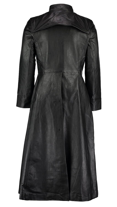 006eff71a11 Gallanto Neo Matrix Black Gothic Style Men's Long Trench Leather Coat