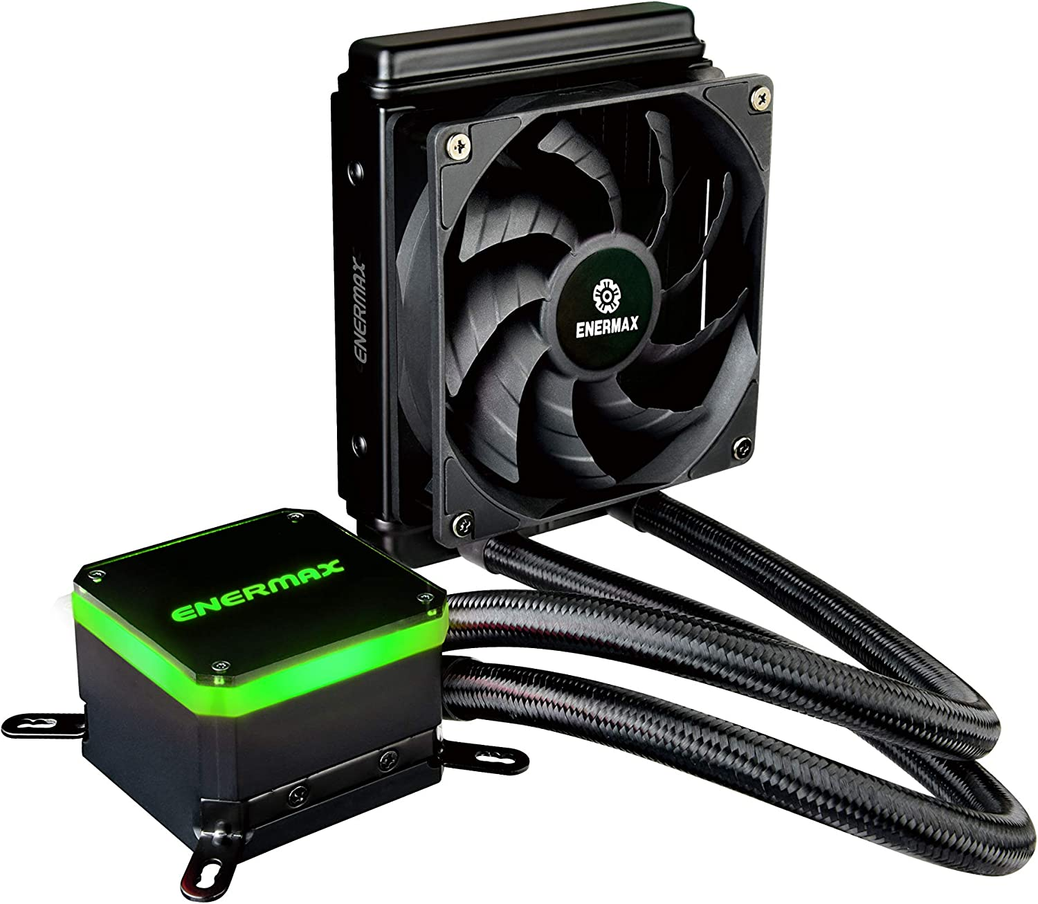 Enermax Liqmax III 120 All-in-One CPU Liquid Cooler Dual Chamber Intel/AMD AM4 Support AIO Cooling 300W+ TDP; 12V 4-Pin RGB Header; ELC-LMT120-HF