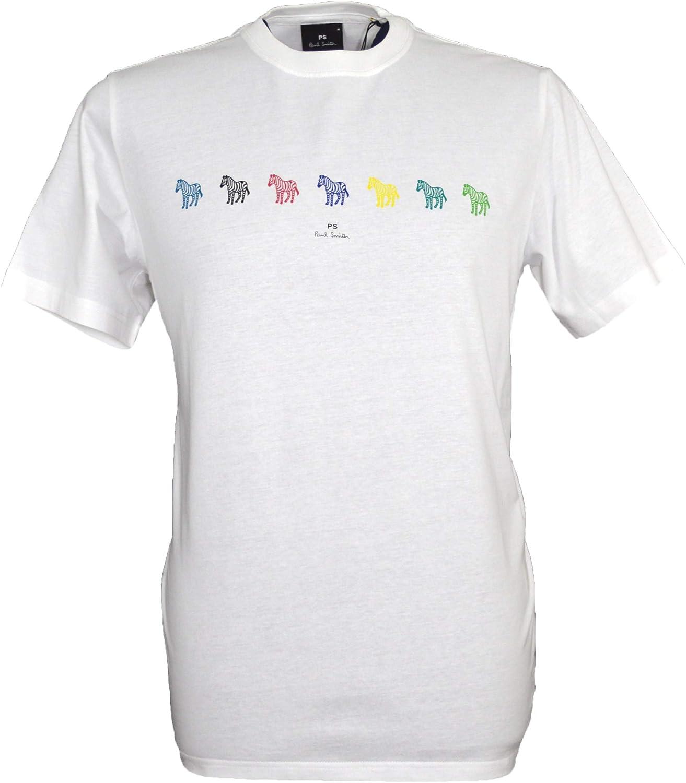 Paul Smith Zebras - Camiseta de cuello redondo para hombre, color blanco: Amazon.es: Ropa y accesorios
