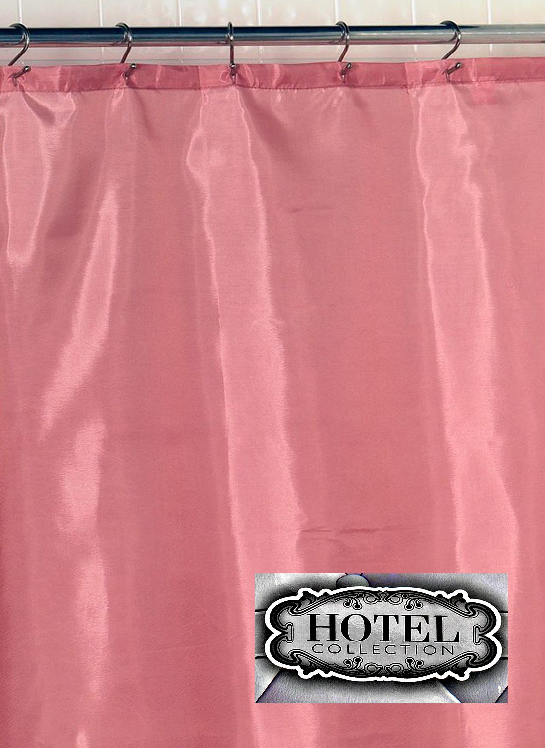 Hotel Fabric Shower Curtain Liner 70'' wide x 72'' long, Rose