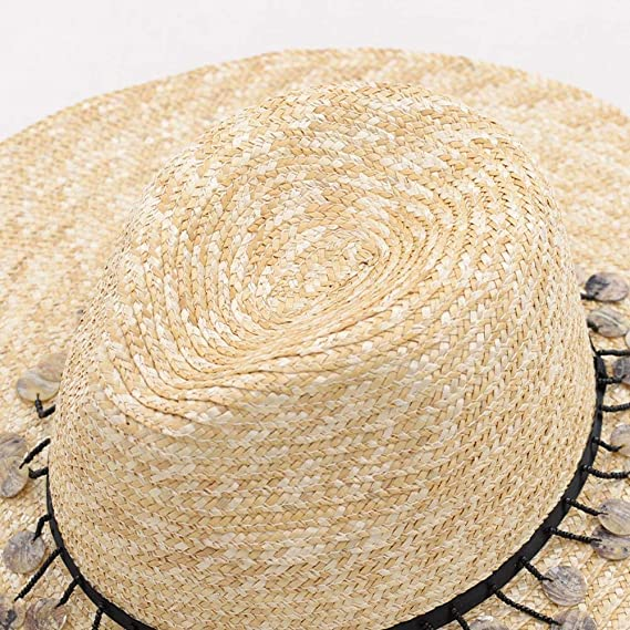 a9e4acf8d219a Defect Lady Straw Hat Retro High Top Big Eaves Rushes Straw Hat Stage Walk  Show Sun Visor Beach Hat  Amazon.co.uk  Kitchen   Home