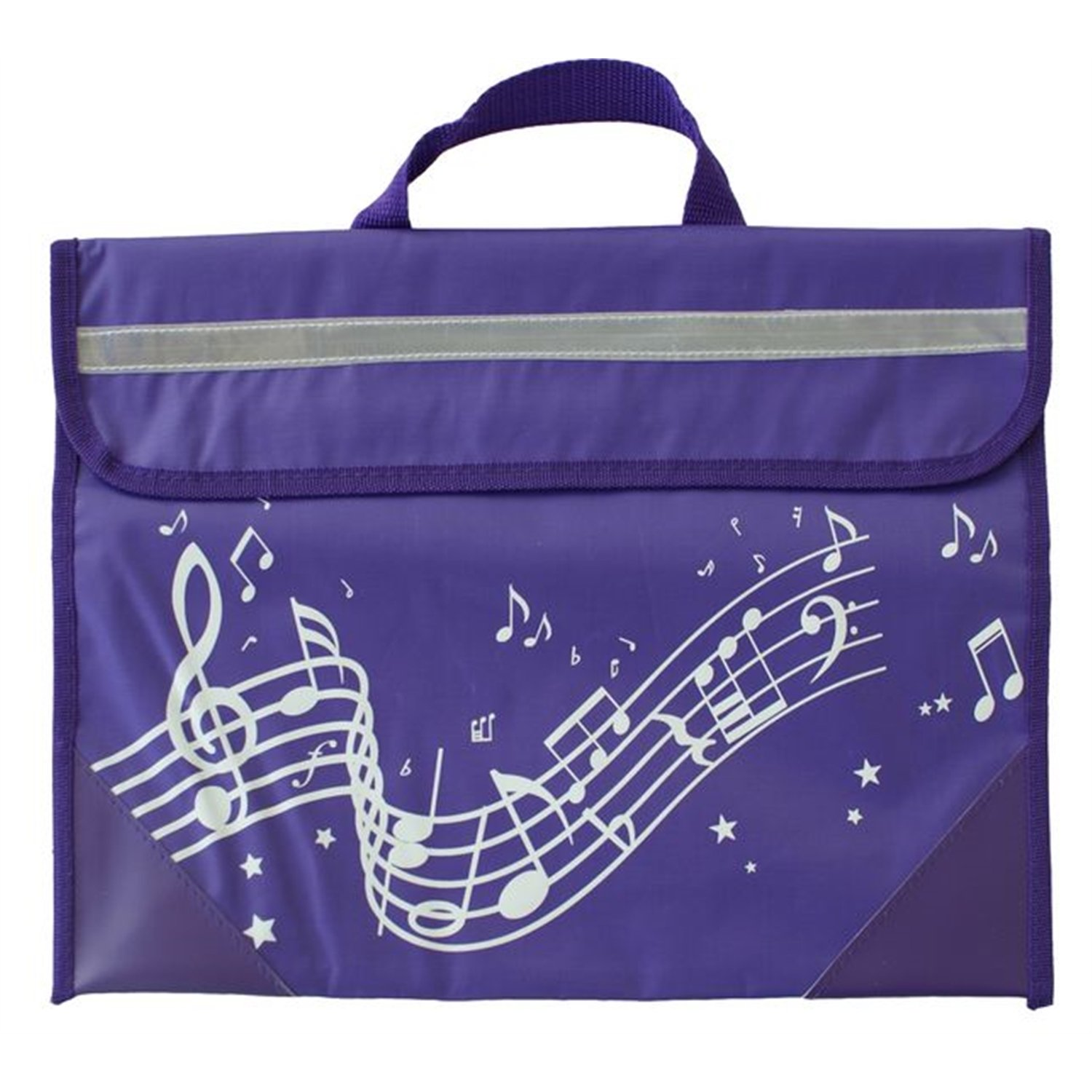 Musicwear: Wavy Stave Music Bag (Purple) Mus-3936