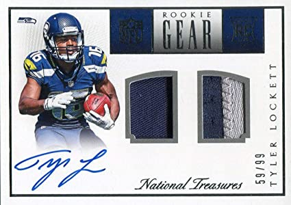 huge discount d8eb5 e407a Tyler Lockett Autographed 2015 Panini National Treasues ...