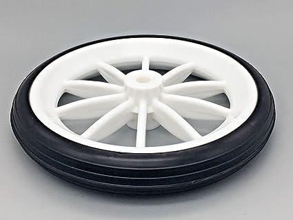 1 x blanco y negro 125 mm poliuretano rueda para carros y carros