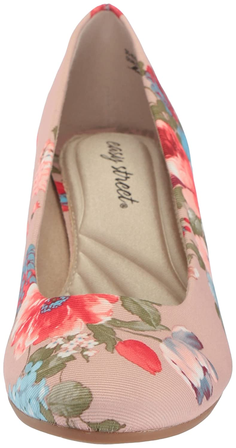 Easy Street Women's Proper Pump B077ZJH281 8 B(M) US|Floral Fabric