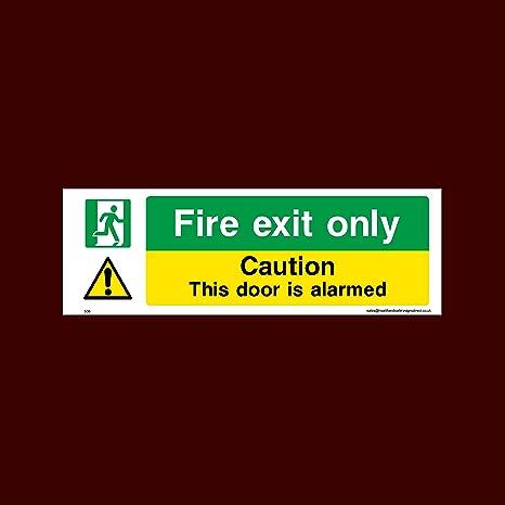USSP&S Fire exit sólo - señal adhesiva adhesivo de alarma ...