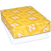 """Neenah Classic Crest Coverstock, 8.5"""" x 11"""", 80 lb, Smooth Finish, Solar White, 500 Sheets (04701)"""
