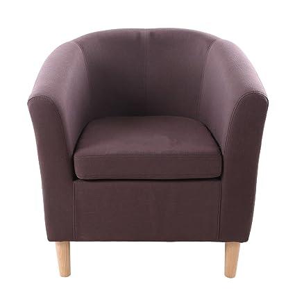 CRAVOG (Reino Unido stock) moderno muebles tela de lino sillón sala ...