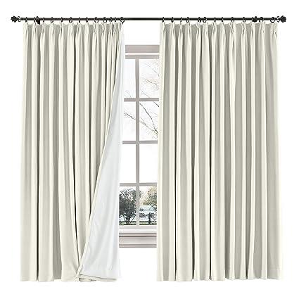 Amazon.com: ChadMade Linen Cotton Curtain Panel Pinch Pleated ... on