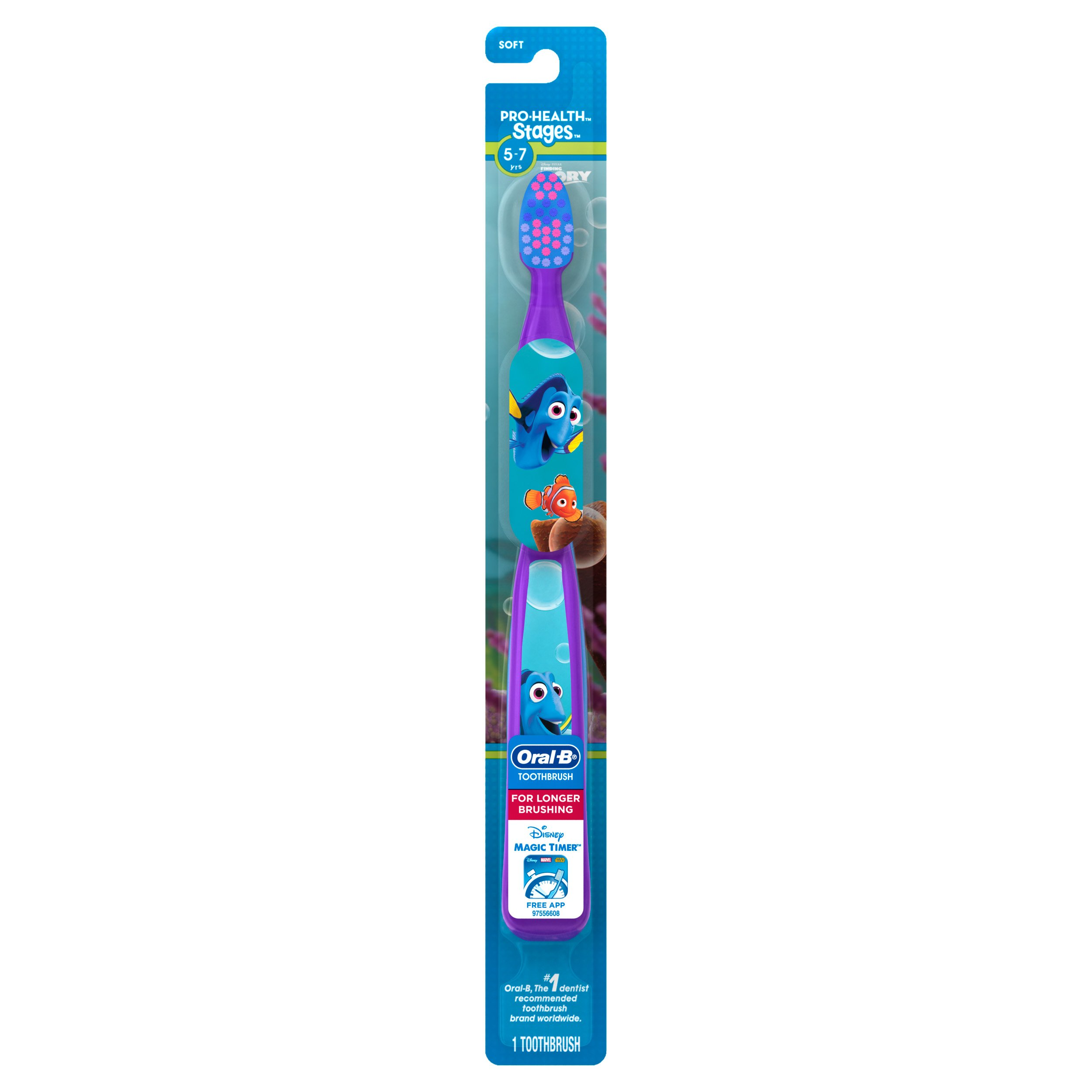 Oral-B Pro-Health Stages Kids Manual Toothbrush featuring Finding Dory, Soft Bristles, 1 ct