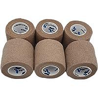 PintoMed - 6 x Huidskleur - Samenhangend verband - Cohesive Bandage - 6 rollen x 5 cm x 4,5 m Zelfklevende flexibele…