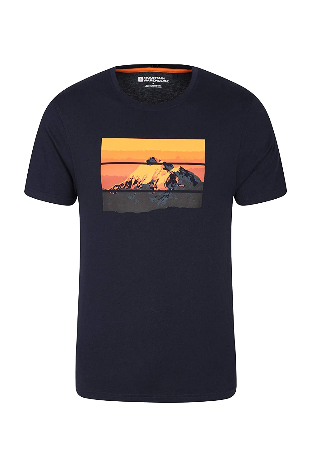 Quality Print Top -for Spring Travelling /& Hiking Lightweight Tee Shirt Mountain Warehouse Mountain Limits Mens Tee UV Protection Summer T-Shirt Easy Care