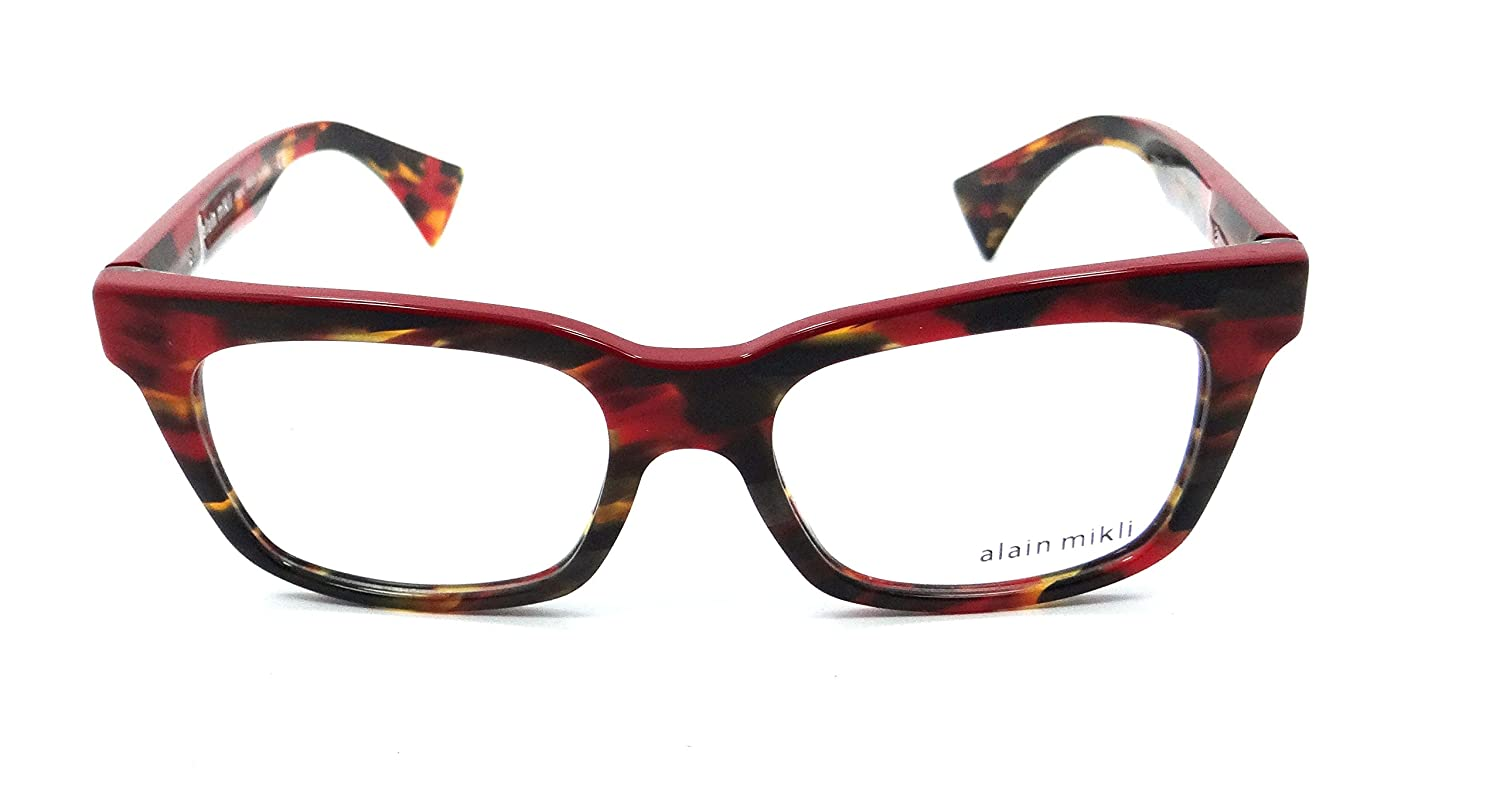 4ebbc12cc2 Amazon.com  Alain Mikli Rx Eyeglasses Frames A03021 A03C 50x17 Multi Red  Made in Italy  Clothing