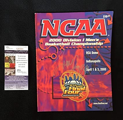 85d415329ca4 Tom Izzo Signed 2000 National Champs Ncaa Final Four Program Spartans Coa - JSA  Certified -