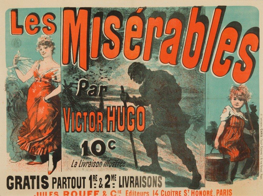 Les Miserables Vintage Poster (artist: Cheret) France c. 1886 (9x12 Art Print, Wall Decor Travel Poster)