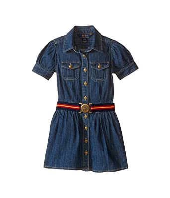 a432551e9a4 Image Unavailable. Image not available for. Color  Polo Ralph Lauren Kids  Denim Shirtdress Toddler Quincy Wash Girl s Dress