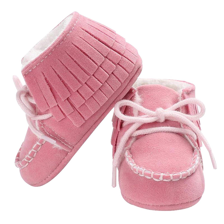 Seipe Winter Newborn Baby Non-Slip Snow Boots Skid Bottom Soft Sole Shoes