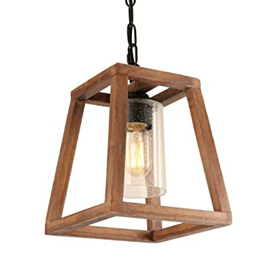 Buy Giluta Trapezoid Shape Pendant Light Farmhouse Kitchen Wood Chandelier Rustic Hanging Ceiling Light Fixture Unique Pendant For Dining Room Foyer Ul Listed Online In Indonesia B08bwpq5mt