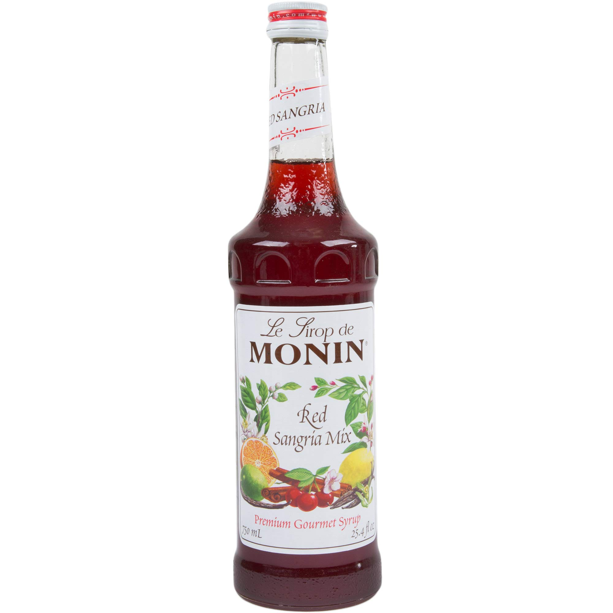 Monin Flavored Syrup, Red Sangria Mix,750 ml bottle