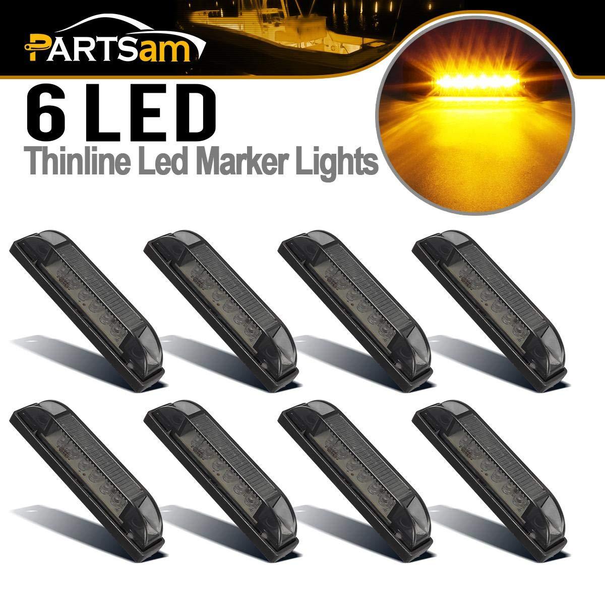 """4pcs 8/"""" White Led Slim Line LED Utility Strip Light 18LED RV Boat Marker Light"""