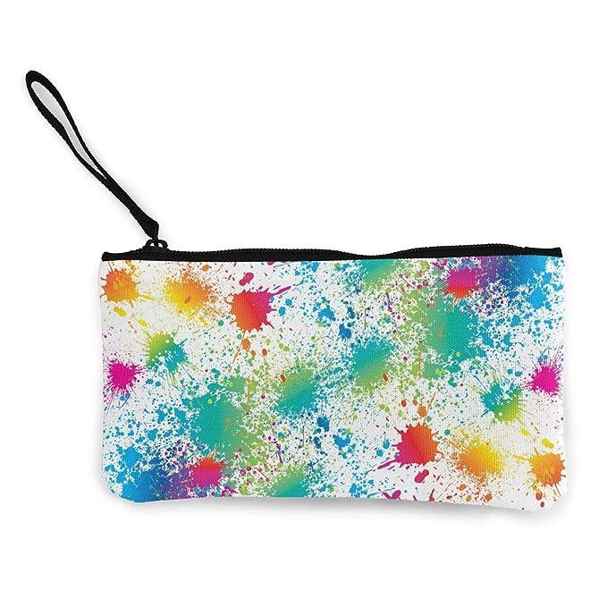 Amazon.com: Monedero de lona colorida para mujeres y niñas ...