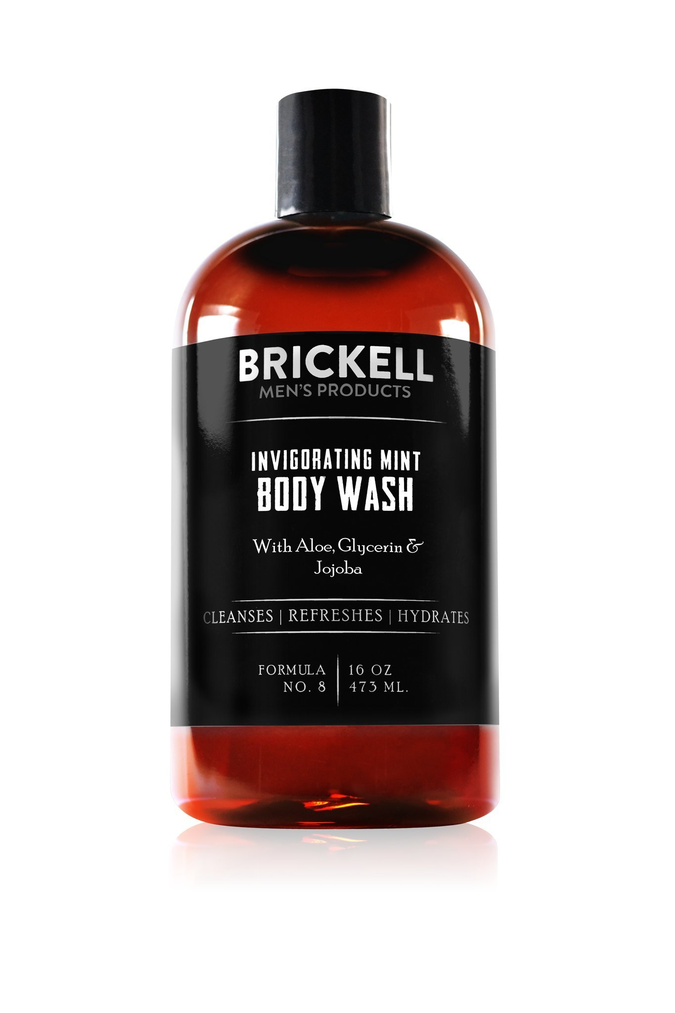 Brickell Men's Invigorating Mint Body Wash for Men, Natural and Organic Deep Cleaning Shower Gel with Aloe, Glycerin, and Jojoba, Sulfate Free, 16 Ounce, Scented by Brickell Men's Products