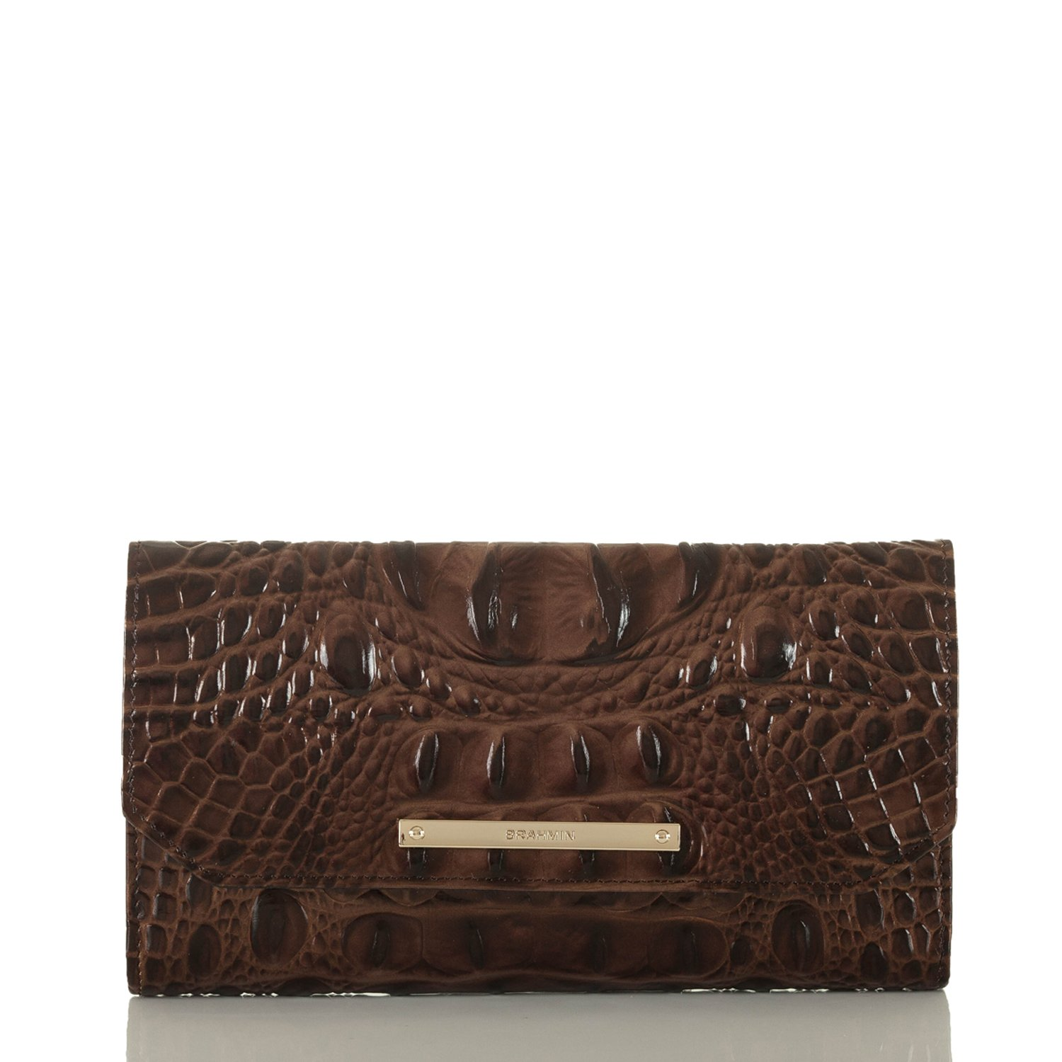 Brahmin Women's Soft Wallet Checkbook Cover, Chestnut, One Size