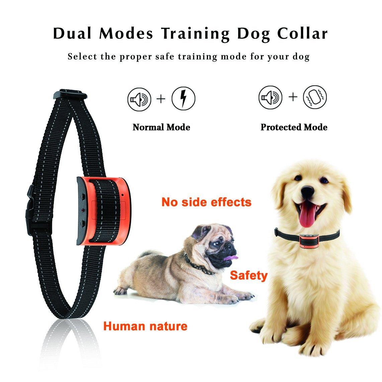 Oternal Bark Collar Stop Dog Barking - Humane and Harmless Anti Bark Dog Training Collar - Smart Barking Detection Collar - Control Dog Bark for Small, Medium, Large Dog Large Dog (Orange)