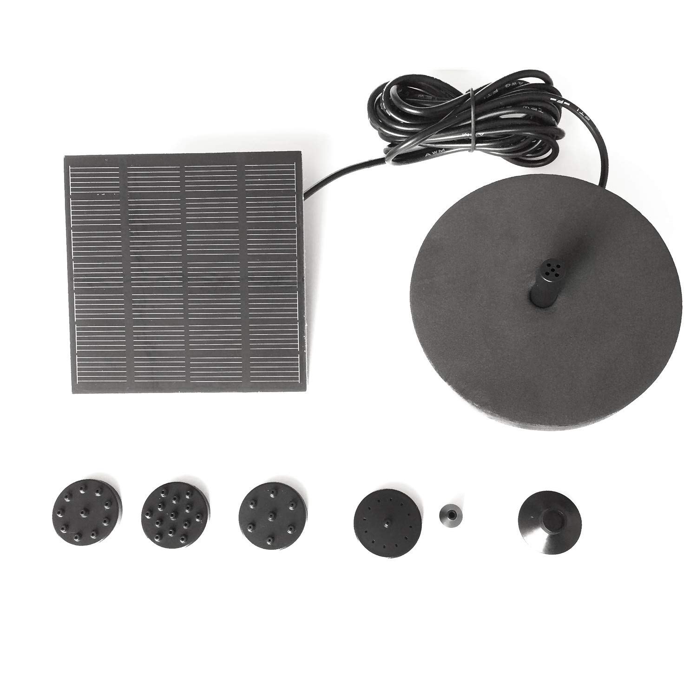 Cikuso Bomba de Fuente Solar Para Birdbath 1.4W Equipo de Panel de Bomba de Agua Con Energ/ía Solar Para Jard/ín Con Tablero Flotante