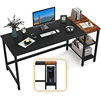 40 inch Computer Desk with Storage Shelves, Office Work Desk for Small Spaces, Writing Study, Industry Modern Table for…