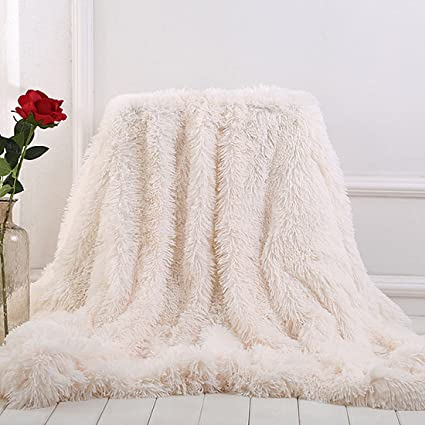 Incredible Myru Plush Super Soft Blanket Bedding Sofa Cover Furry Fuzzy Fur Warm Throw Qulit Cozy Couch Blanket For Winter 63X79 Beige Pdpeps Interior Chair Design Pdpepsorg